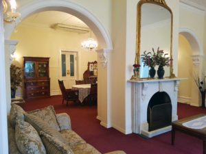 Victorian lounge rooms at Beaufort Manor
