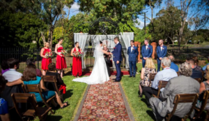 Outdoor wedding services at Beaufort Manor